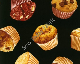 Tossed Muffins - Timeless Treasures FOOD-C9247- MUFFIN (sold by the 1/2 yard)