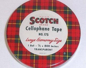 Vintage Mid-Century Scotch Cellophane Tape Tin No. 175