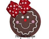 Digital Machine Embroidery Design - Gingerbread Cutie Applique