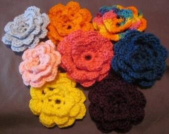 Crocheted Flower Applique