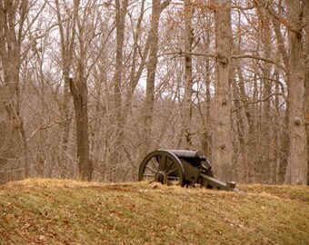 Canon at Fort Henry, Civil War Battlefield, Historical, Civil War Landscape, Fine Art Photography, Sepia Toned Photographs