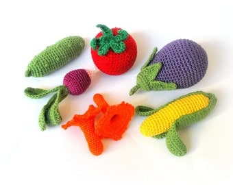 crochet vegetables on Etsy, a global handmade and vintage ...