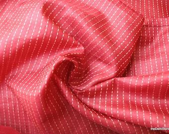 Pure Tussah Silk Kantha Weave Fabric  by Yard