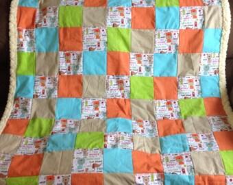 Dog Themed Lap Quilt - Good Dog Quilt - Best Friend Dog Quilt - Dog Blanket