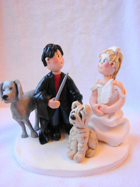 clay wedding cake toppers custom polymer clay wedding cake topper figurine a 12879
