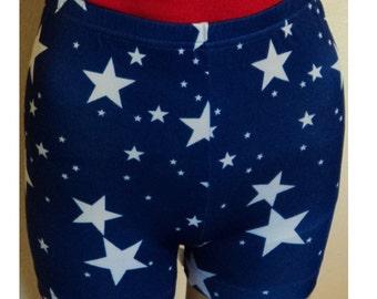 Wonder Woman Costume Shorts Blue White Stars