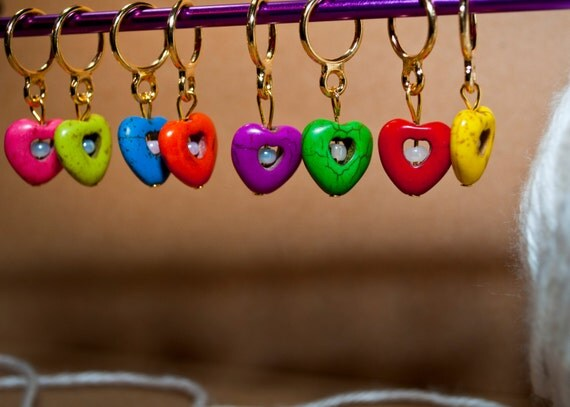 Heart Stitch Markers (Set of 6)
