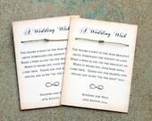 Rustic Wedding Favor set of 80, Wedding wishing bracelets, shabby wedding favor, love bracelet, wishing well bracelet, burlap & lace wedding