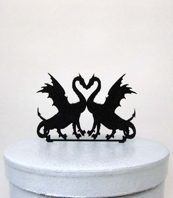 dragon wedding cake topper wedding cake topper two dragons in by plasticsmith on 13718