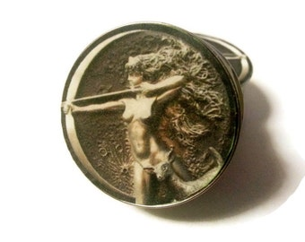 Artemis Greek Goddess of the Hunt Double Flare or Single Flare Plugs sizes 2g - 2 Inches