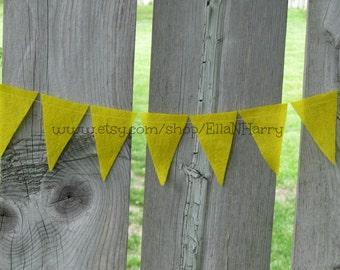 8 Feet - Yellow Triangle Felt Garland/Bunting