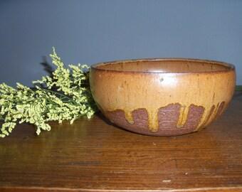 Rustic Stoneware Drip Glaze Bowl