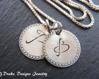 sterling silver personalized initial necklace