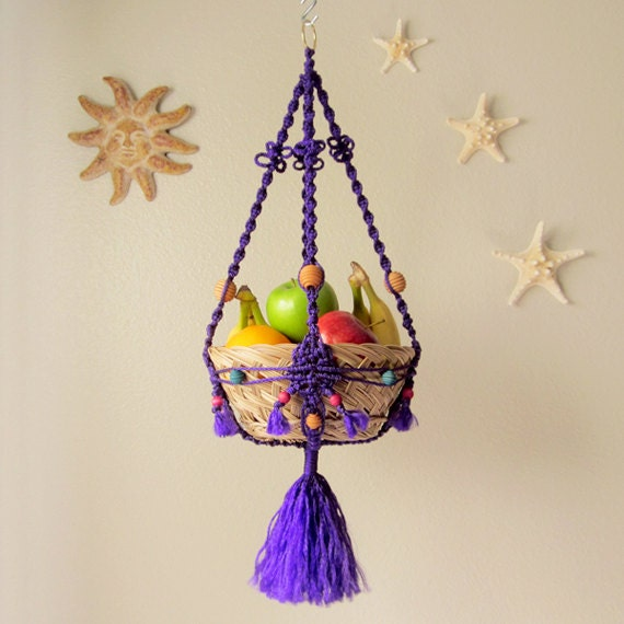 macrame hanging basket items similar to macrame hanging basket fruit bowl 4812