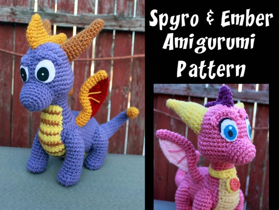 Crochet Pattern: Spyro and Ember Inspired Dragon Amigurumi PDF