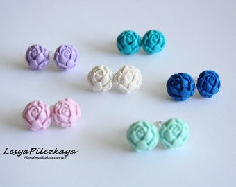 Poymer clay stud earrings choosing yourself - find your colour - small studs