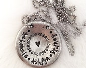 Hand Stamped Name Necklace | Mom Necklace | Pewter | Mom Jewelry | Baby Shower Gifts | Personalized Gifts  | Anniversary Gift