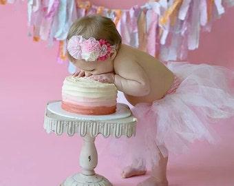 baby headband, baby headbands, valentines headbands, glitz headbands, dance headbands, chiffon headbands, pink headband,  girls headband