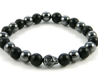 Hematite Skull Bracelet - 2 separate styles/colors available