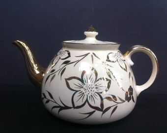 Vintage Gibsons Staffordshire Gold Gilded Teapot