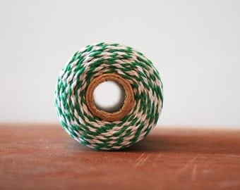 10m Bakers Twine - Green and White