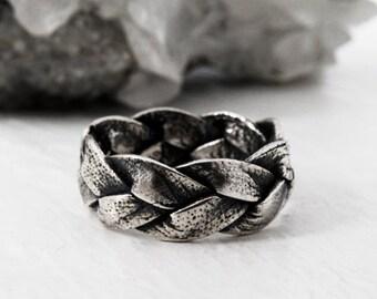 AMALA silver braid ring
