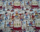 Crib Quilt Toddler Quilt, Little Cowpokes Michael Miller Western Theme Crib Rodeo Cowboys Ready to Send Crib Bedding Western Baby Shower