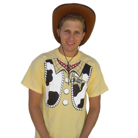 Sheriff Woody T Shirt Costume Toy Story 1 2 3 By Mypartyshirt