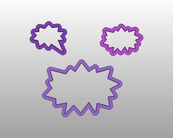 Pow Cookie cutters - Various