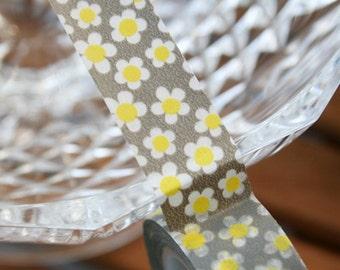 White Flower Washi Tape