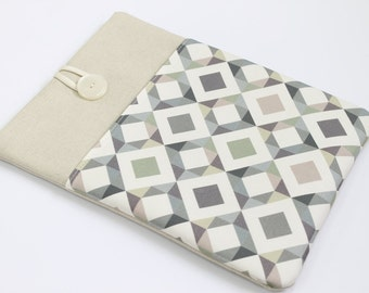 iPad Air padded sleeve, iPad Retina Case, iPad 3 cover, Kindle HDX Sleeve, Grey Diamonds Geometric,  custom tablet case, Galaxy Tab cover