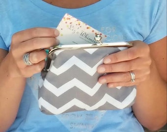 Geometric... clasp purse
