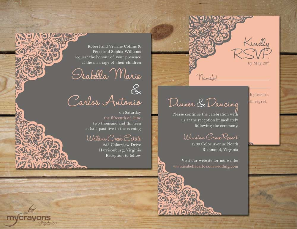 Lace Wedding Invitation: Kitchen & Dining