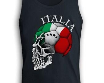 Team Italy Soccer Skull Men's Tank Top - Singlet