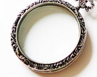 Magnifying Glass Necklace Pendant Monocle Magnifying Glass Necklace Pendant 500-001