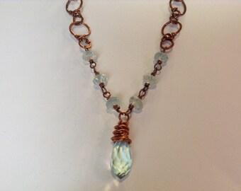 Aquamarine Copper necklace