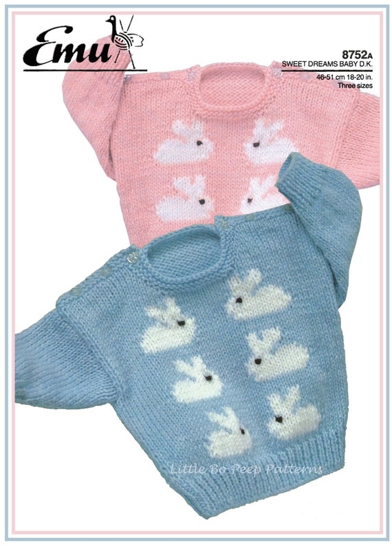 Knitting Pattern Baby Chest Sizes : Rabbit Motif knitting pattern for Baby to fit chest