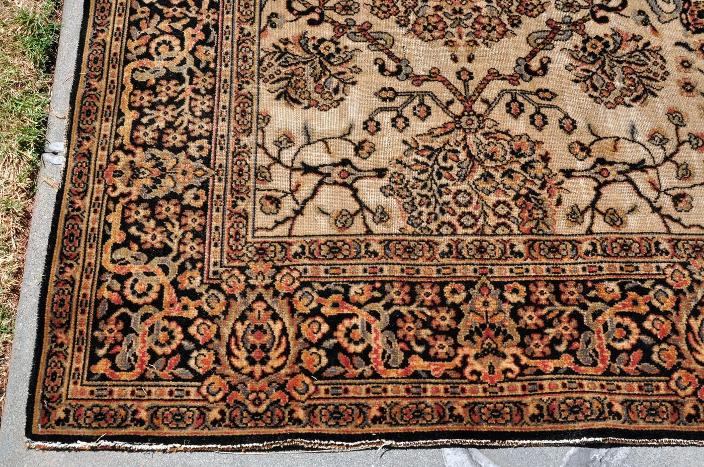 Antique Wilton Whittall Cavalcade Area Rug 12 Ft By 8 Ft
