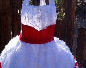holiday adult apron