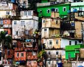 Painting Print - Rocinha shanty town 1 - Rio - Brazil