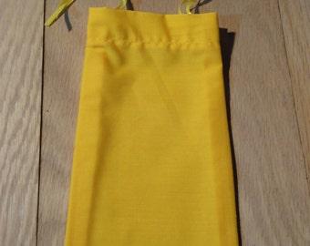 Medium Cotton Drawstring Mojo Bag--Yellow