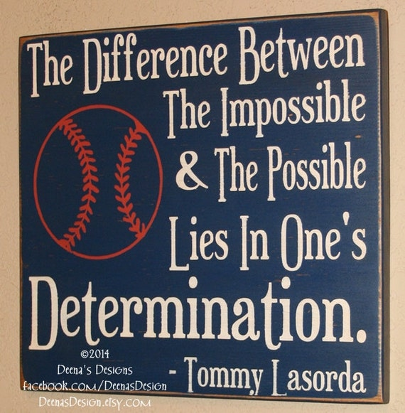 Persistence Motivational Quotes: Baseball Decor Baseball Sign Baseball Quote Sign Wooden