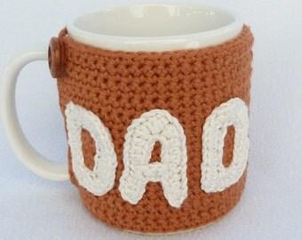DAD crochet mug cozy