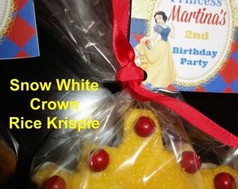 Rice Krispie Treats Favors (12 rice krispies)- Little Mermaid, Minnie & Mickey Mouse, Batman, Sailboat, SpongeBob