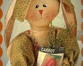 Primitive Carrot Stump Doll Bunny Spring ePattern