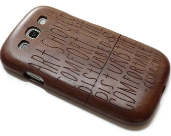 wooden Samsung Galaxy S3  case - wooden S3 case walnut / cherry or bamboo -  Art should