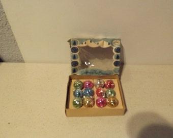 Vintage Shiny Brite Miniature Christmas Tree Ornaments