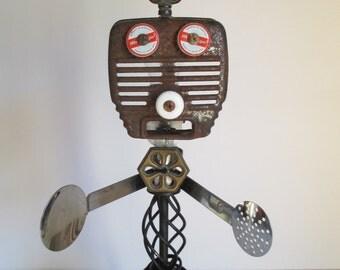 BONEZ- Found object robot sculpture~assemblage