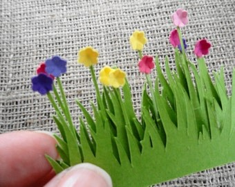 Flowers in the Grass Die Cut Embellishments Set of 10