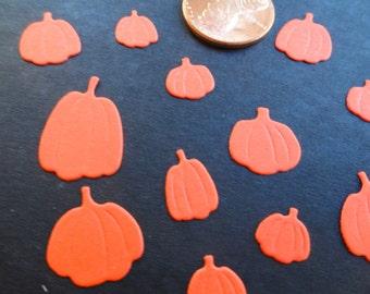 Mini Pumpkin Die Cuts for scrapbooking and cardmaking Set of 48